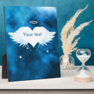 Display Plaque 8x10 With Ease - Angel of the Heart