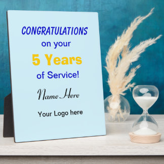 Display Plaque Award for Employee Anniversary