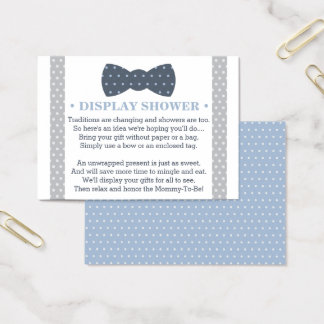 Display Shower Card, Little Man, Bow Tie Business Card
