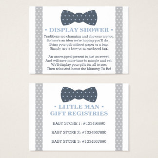 Display Shower Card, Registry Card, Little Man Business Card