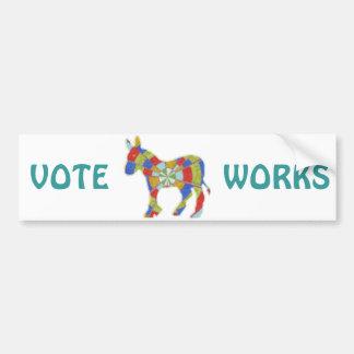 DISPLAY VOTE SUPPORT ELECT ENJOY CAR BUMPER STICKER