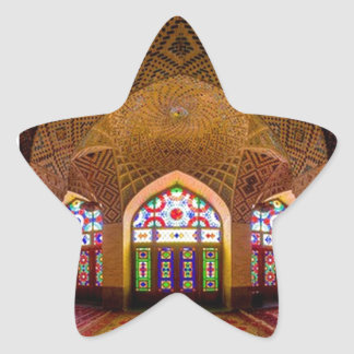 DISPLAY with respect: Religious Place of Worship Star Sticker