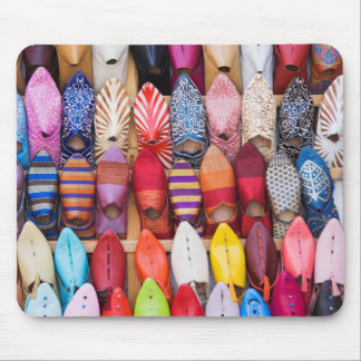 Displayed shoes in a shop in the souks mouse pad