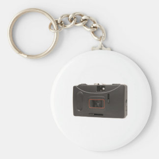 Disposable camera basic round button keychain