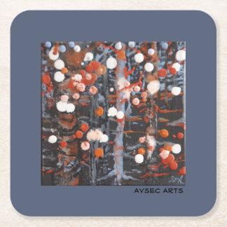 "Disposable Coasters, ""November Snow"" Square Paper Coaster"