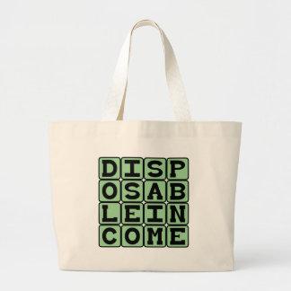 Disposable Income, Extraneous Money Canvas Bag