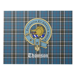 Disposable Placemats Thomson Plaid & Clan Badge Notepad