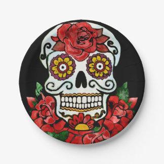 Disposable sugar skull paper plate