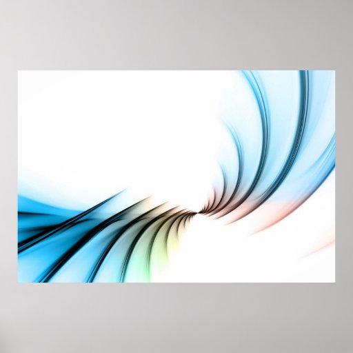 Disposición abstracta del vórtice del fractal póster