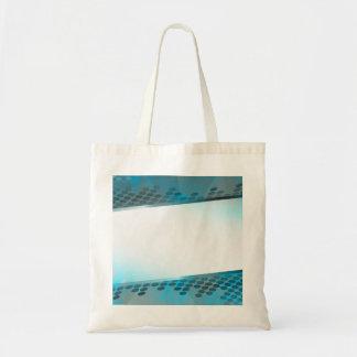 Disposición azul abstracta bolsa tela barata
