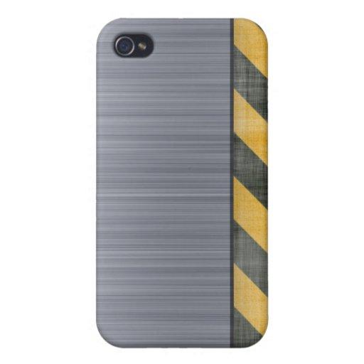 Disposición cepillada de la construcción del pelig iPhone 4 funda