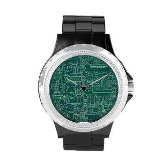 Disposición de circuito eléctrico reloj de mano