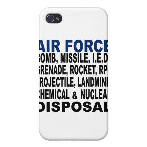 Disposición de la bomba etc. de la fuerza aérea iPhone 4 protectores