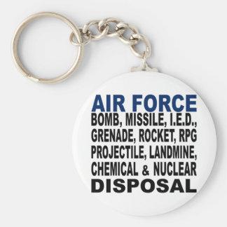 Disposición de la bomba etc. de la fuerza aérea llavero redondo tipo pin