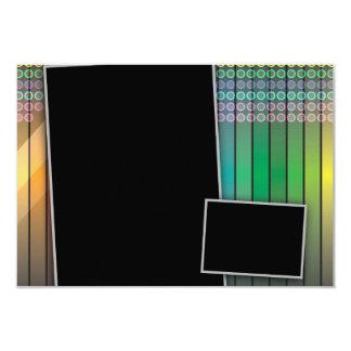 """Disposición de página enrrollada del arco iris invitación 3.5"""" x 5"""""""