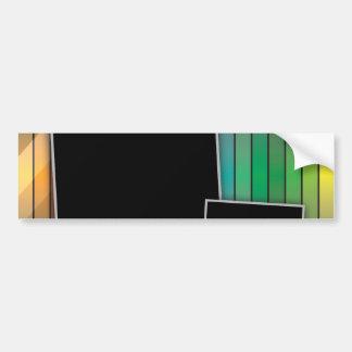 Disposición de página enrrollada del arco iris pegatina para auto