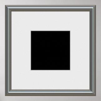 disposición de plata del marco póster
