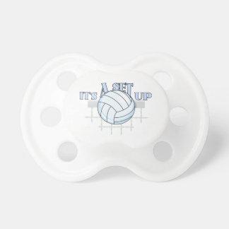 Disposición del voleibol chupetes