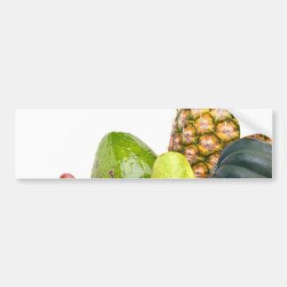 Disposición fresca de las frutas y verduras pegatina para auto