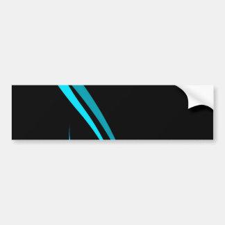 Disposición tribal azul fresca de las curvas pegatina para auto