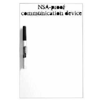 dispositivo de comunicación de la NSA-prueba Tableros Blancos