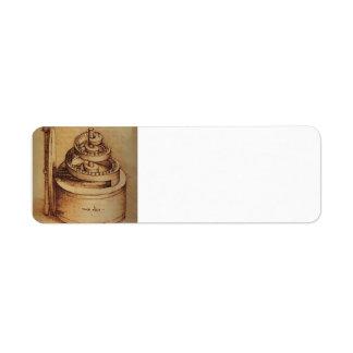 Dispositivo de la primavera de Leonardo da Vinci Etiquetas De Remite