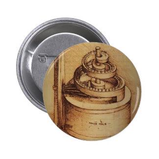 Dispositivo de la primavera de Leonardo da Vinci Pins