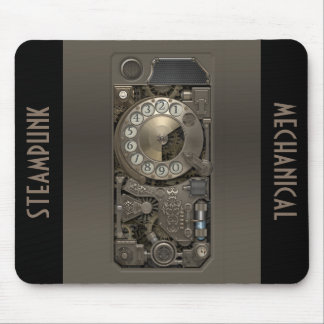 Dispositivo de Steampunk - teléfono de dial Alfombrillas De Ratones