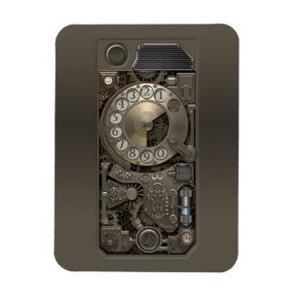 Dispositivo de Steampunk - teléfono de dial Imán Rectangular