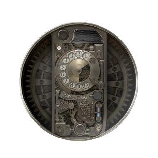 Dispositivo de Steampunk - teléfono de dial Plato De Cerámica