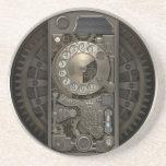 Dispositivo de Steampunk - teléfono de dial Posavasos Cerveza