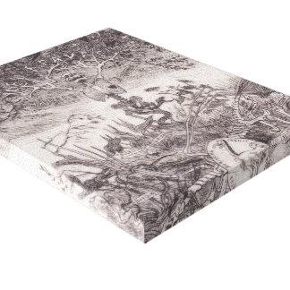 Dispositivos de protección en caso de volcamiento  impresión en lienzo estirada