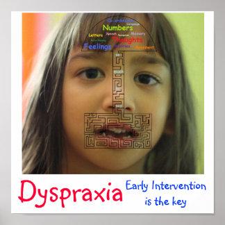 Dispraxia - la intervención temprana es la llave póster