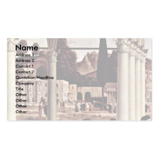 Disputation Of St Stephen By Vittore Carpaccio Business Cards