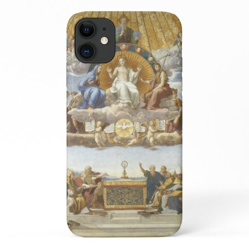 Disputation of the Holy Sacrament, Raphael Sanzio iPhone 11 Case