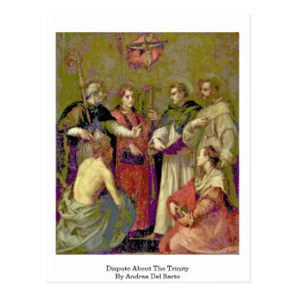 Dispute About The Trinity By Andrea Del Sarto Post Card