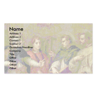 Dispute About The Trinity By Sarto Andrea Del Business Card Templates