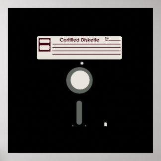 Disquete certificado (del disco blando) póster