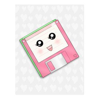 Disquete rosado tarjetas postales