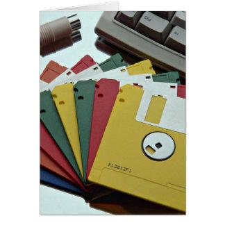 Disquetes y teclado hermosos tarjetas