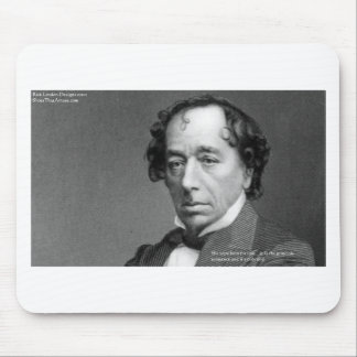 Disraeli Love Quote & Graphic On Gifts Cards Etc Mouse Pad