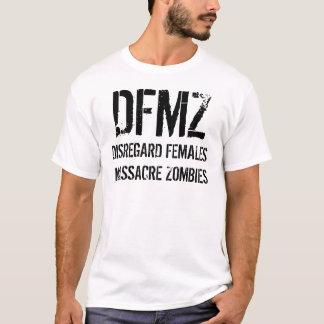 DISREGARD FEMALES MASSACRE ZOMBIES TEE