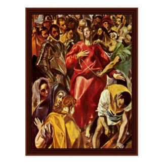 Disrobing Of Christ By Greco El Post Card