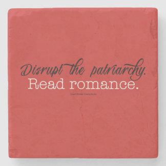 Disrupt the patriarchy Read Romance. Stone Coaster