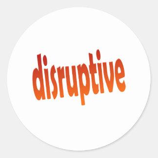 disruptive classic round sticker