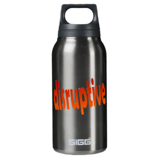 disruptive insulated water bottle