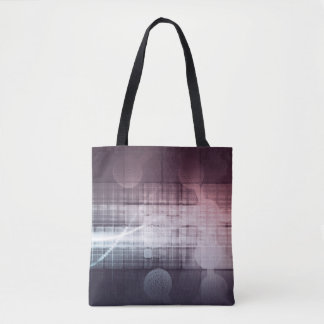 Disruptive Science and Technology as a Abstract Tote Bag