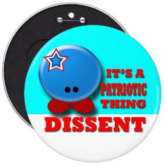 Dissent Pinback Buttons