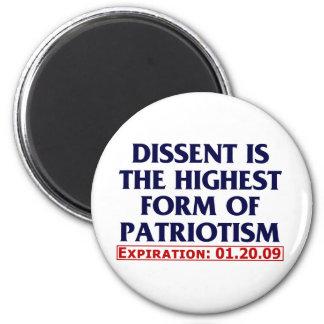Dissent (expired 01.20.09) 2 inch round magnet