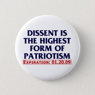 Dissent (expired 01.20.09) pinback button